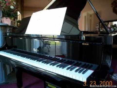 Baby Grand Piano waiting to be played - Munro House Bed & Breakfast and Spa