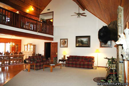 Great room and dining room - Rustic Luxury at the Buffalo River Lodge