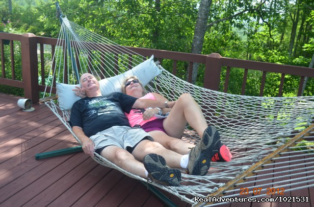 Hammocks are made for couples - Romantic or Family Vacation in the Mountains