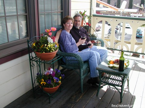 Enjoy our Balcony (#5 of 5) - Historic Gold Rush National Hotel near Yosemite