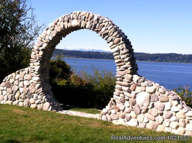 Our Moongate...picture perfect for your wedding | Image #3/25 | Camano Island Waterfront Inn