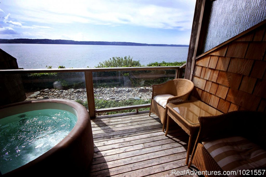 Room deck with private hot tub | Image #17/25 | Camano Island Waterfront Inn