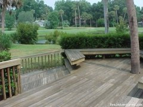 Spacious deck - Hilton Head Island Beach and Golf Home
