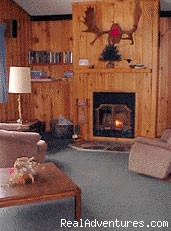 Living room of a Gunflint lakeshore cabin - Family vacations at a beautiful resort in ne MN