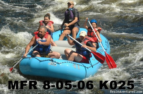 Family rafting - Magic Falls Rafting Company