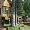Alaska's Northwoods Lodge Front Deck View