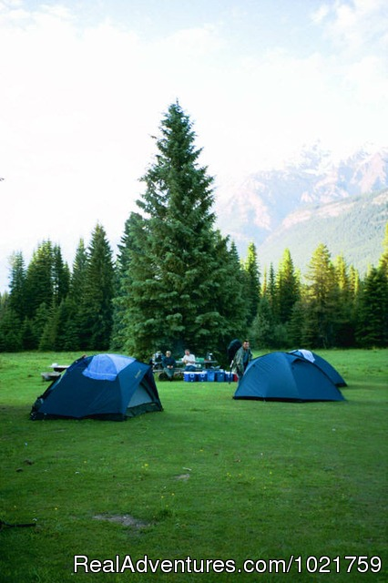 Camping near Jasper - Small Group Rockies & Vancouver Island Vacations