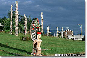 'Namgis Burial Grounds - Alert Bay - Small Group Rockies & Vancouver Island Vacations