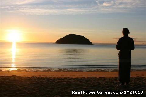 Hiking New Zealand: Sunset in Abel Tasman National Park