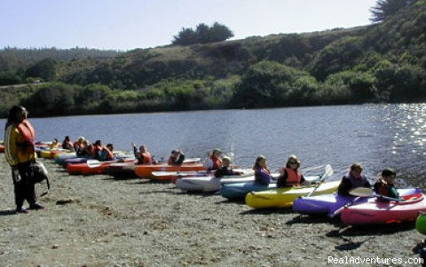 School group ready to launch - Adventure Rents on the Redwood Coast
