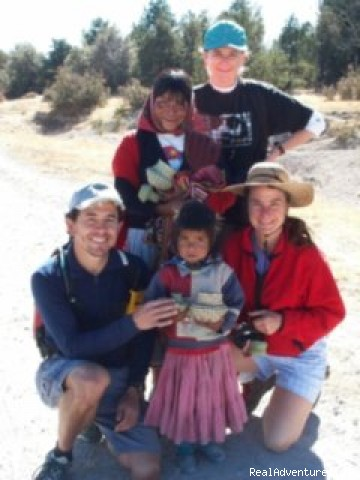 Tarhumara children with group members. - Outpost Wilderness Adventure