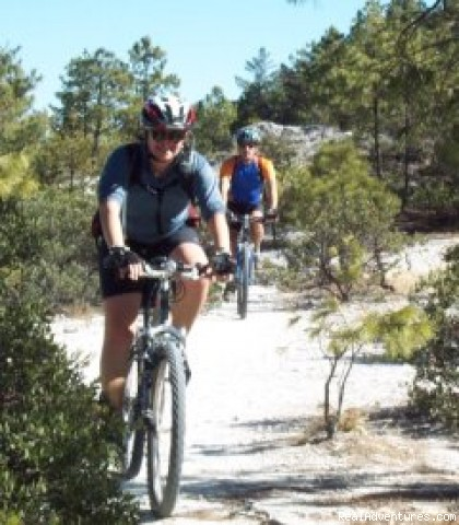 Riding the canyon rim, near Creel. - Outpost Wilderness Adventure