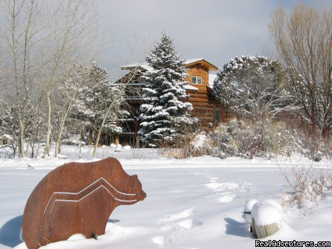 Log cabin in winter - Sundance Bear Lodge at Mesa Verde