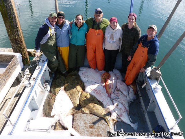 Smiles all round - Fantastic Deep-Sea Fishing in Alaska