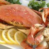 Delicious Dungeness Crab Dinner Served On Board