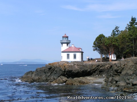 Lighthouse At Lime Kiln Park On San Juan Island - Whale Watching Adventure / Friday Harbor Cruise