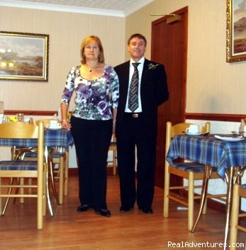 Your Hosts - Nan & Richard Paxton - Westbourne Guest House - Riverside location