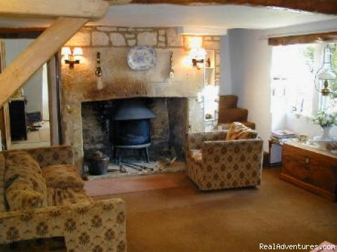 Guest Lounge - Upper Doreys Mill in Cotswold hills.