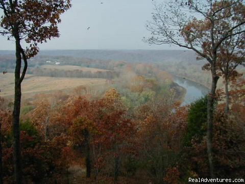 View from Bluffhouse - ROCK EDDY BLUFF FARM - A Scenic Ozark Getaway