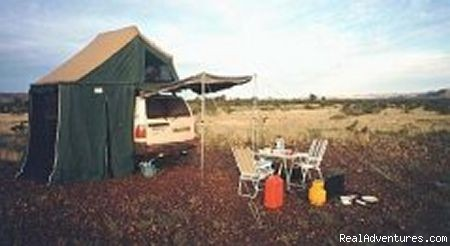 Tentsite in the Bush - Traveling in Westaustralia  1999 (in German)