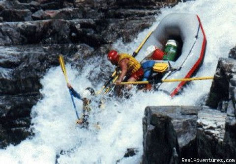 W.E.T. High Side! Class 5 - California Whitewater Rafting W.E.T. River Trips