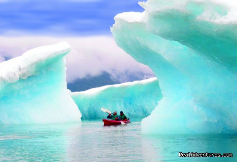 Kayak amongst the icebergs of the mighty Columbia Glacier - Alaska Sea Kayaking with Pangaea Adventures