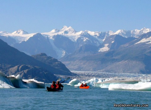Paddle into the Columbia's massive floating icefield. - Alaska Sea Kayaking with Pangaea Adventures