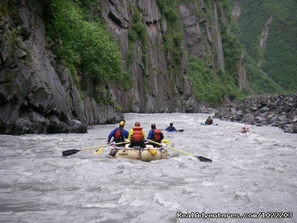 Raft the fun and historic Keystone Canyon with us - Alaska Sea Kayaking with Pangaea Adventures