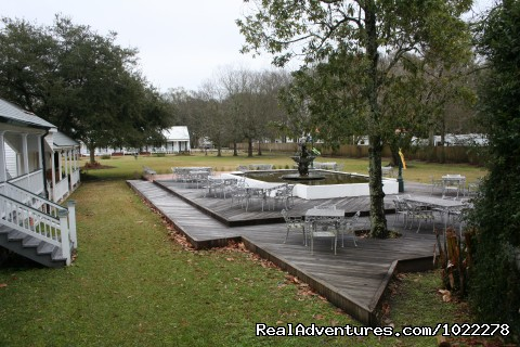 Deck and Fountain - Poche Plantation