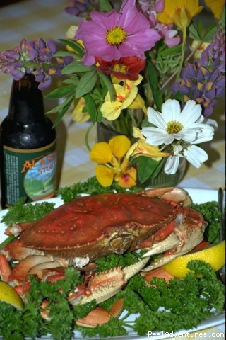 Dungeness Crab and Alaskan beer (#3 of 5) - Gustavus Inn at Glacier Bay