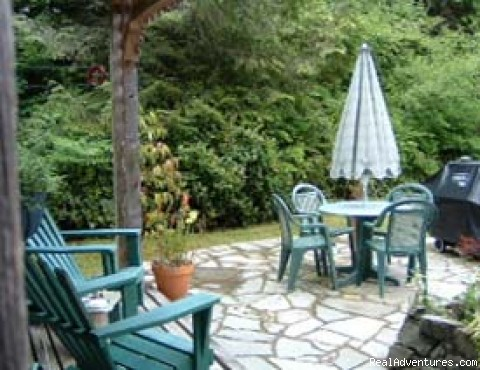 slate garden patio and BBQ - A West Wind, Tofino