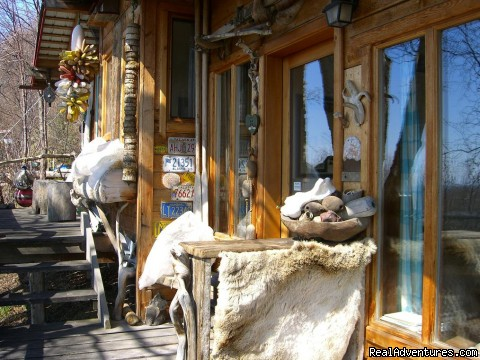 Entry to the cabin - Brigitte's Bavarian Bed & Breakfast