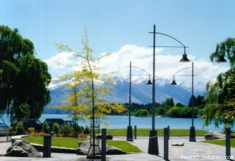 Wanaka Lakefront view in spring - Alpine Motel Apartments -wanaka Nz
