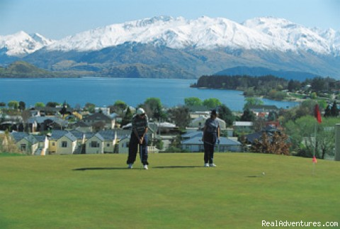 Golf Course - directly behind our motel - Alpine Motel Apartments -wanaka Nz
