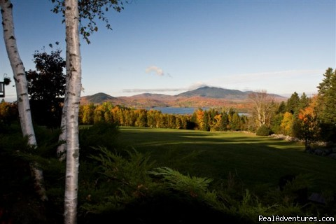 View from Lodge on a summer morning - Lodge at Moosehead Lake for Nature Loving Hideaway