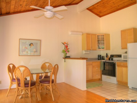 Garden view one bedroom Kitchen And Dining - Kauai Poipu Plantation B&B Inn & Vacation Rentals