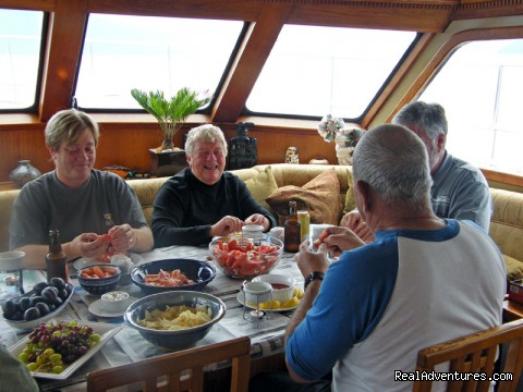 Shrimp Lunch (#13 of 26) - Alaska Yacht Charters Aboard Alaskan Song