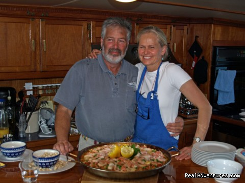 Nancy & Richard with Paella (#18 of 26) - Alaska Yacht Charters Aboard Alaskan Song