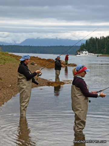Fly Fishing - Alaska Yacht Charters Aboard Alaskan Song