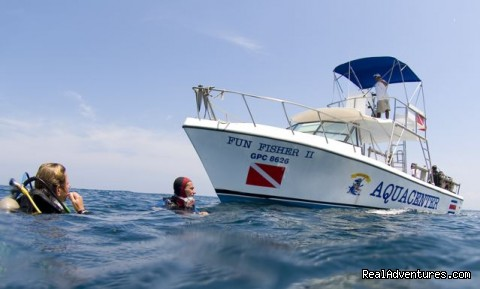 One of three custom dive boats - Bill Beard's Costa Rica Volcano & Beach Vacation