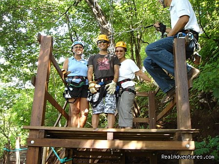 Platform for the zip line tree top canopy tour - Bill Beard's Costa Rica Volcano & Beach Vacation