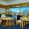 Breakfast room with view onto Lions Head and Cape Town