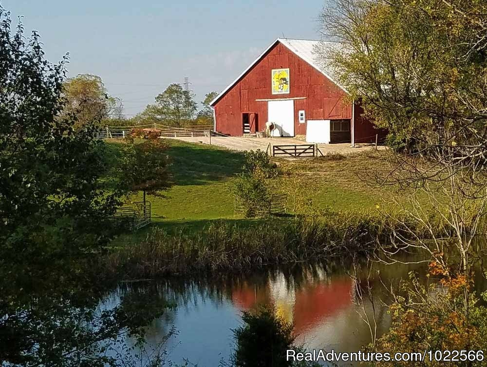 1870s Vintage Tobacco Barn Reflected In Pond | Image #3/11 | First Farm Inn Kentucky