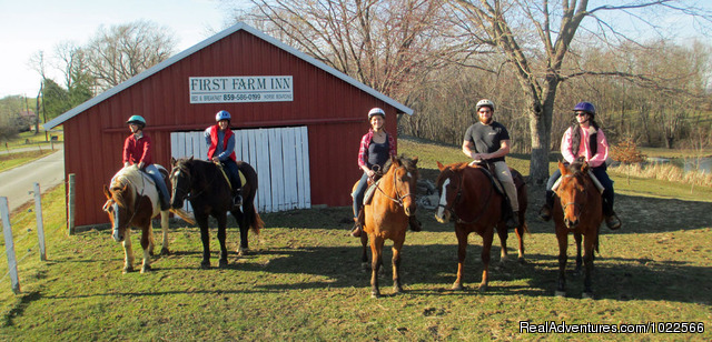 Rides are tailored to the ability of each small group. - First Farm Inn Kentucky