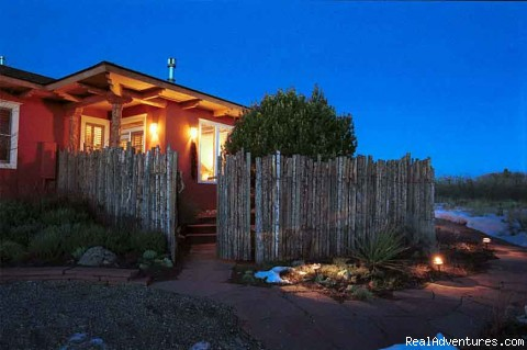 Casa del Sol at night - Blue Lake Ranch - Blue Lake Ranch