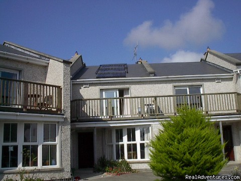 Solar panels fitted for hot water - Sandycove Beach Villas West Cork Ireland