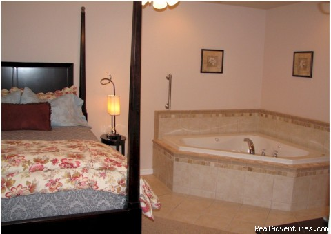 Our Luxurious Premium Suite bedroom - A Bed and Breakfast Inn on Minnie Street