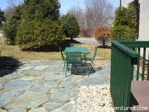 Front Patio - Ideal Apartment base for Daytrips, Broad Cove, NS