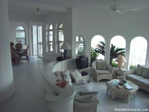 Living Room - PIROUETTE 15 St Maarten Villa On the LAGOON