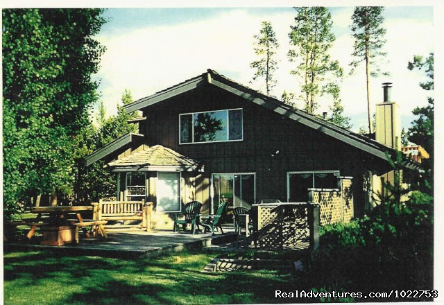 DiamondStone B&B Summer Back deck - DiamondStone Guest Lodges,  gems of Central Oregon